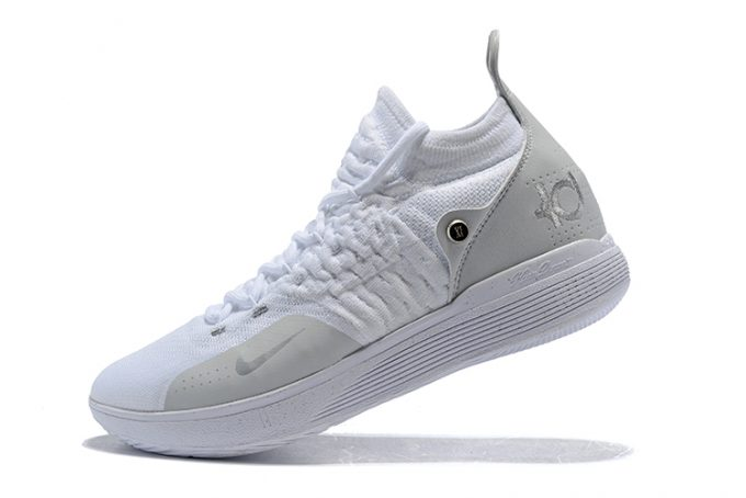 Nike KD 11 White/Chrome-Pure Platinum