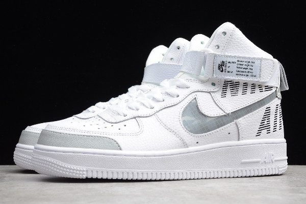 "Nike Air Force 1 High ""Chainlink Swoosh"" White Grey CQ0449 100"