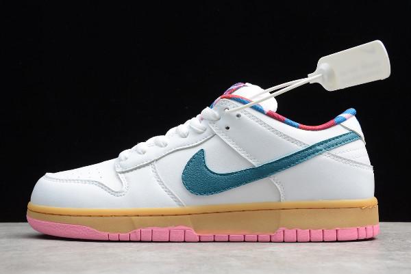 político Carteles norte  Parra x Nike SB Dunk Low White/Blue-Pink New Sale