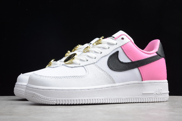 2020 Wmns Nike Air Force 1 Low Se Basketball Pins White Pink